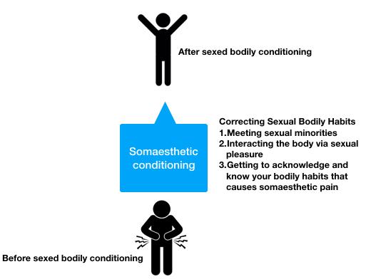 Three different ways improving somaesthetic habits